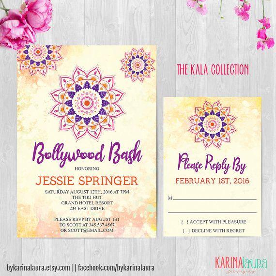 printable bollywood invitation birthday
