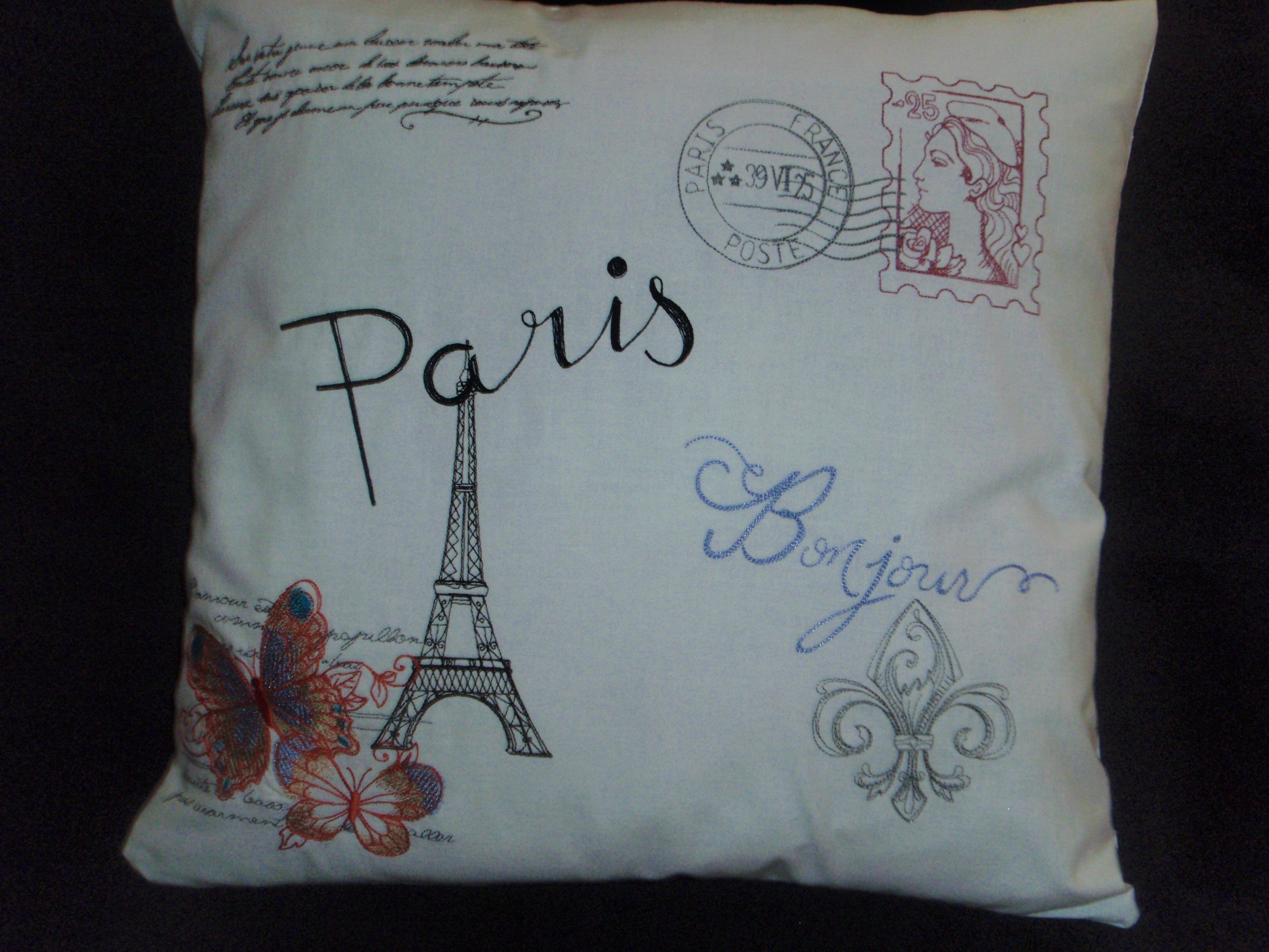 Romance from France pillow