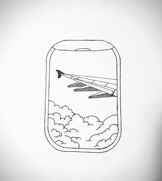 Things To Draw Airplane View Airplane Drawing