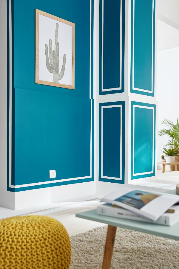 Camaïeu de couleurs sur les murs   Deco peinture, Murs du salon et Idées pour la maison