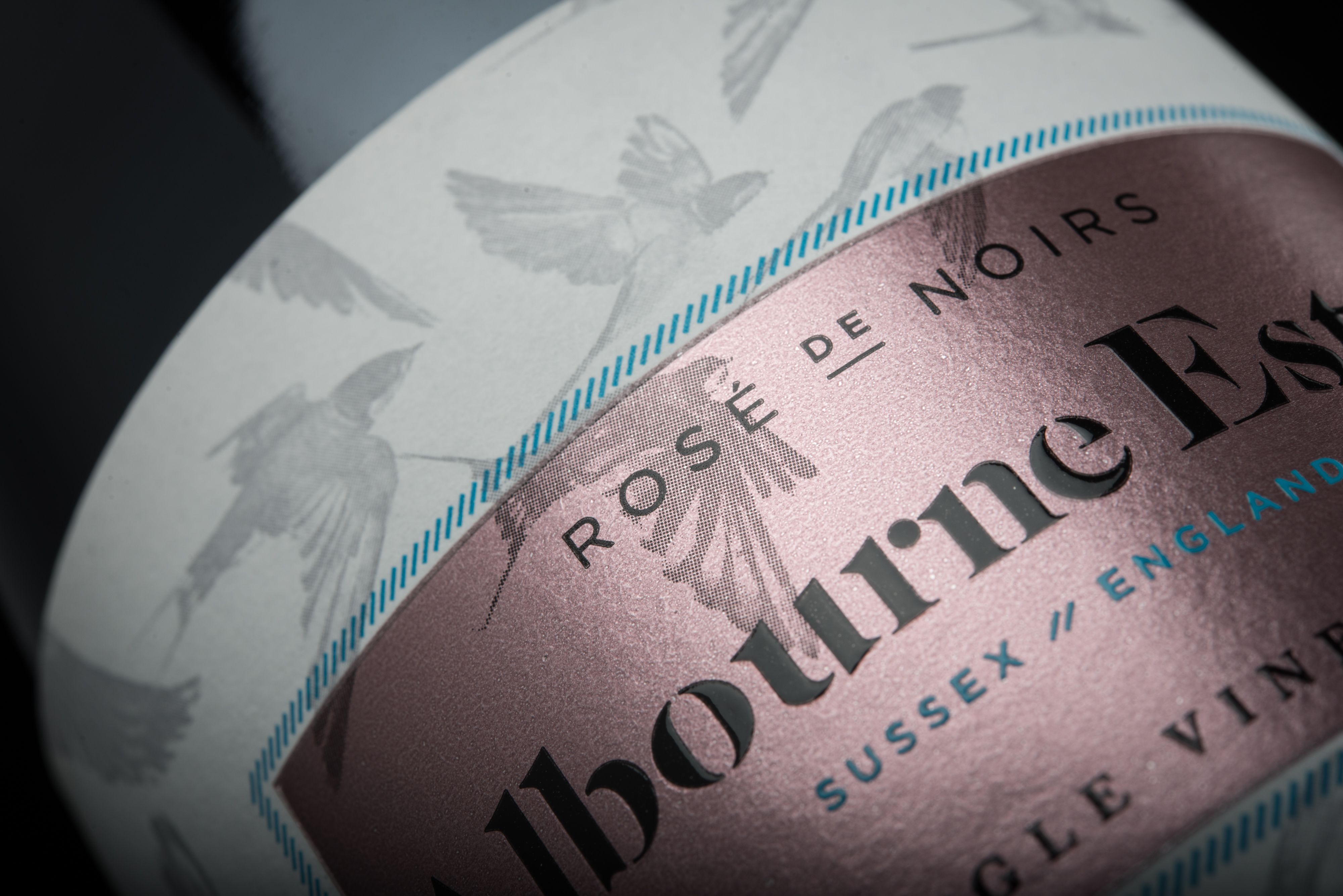 Albourne Estate Sparkling Wine Label Designed By Cook Design And Proudly Printed Multi