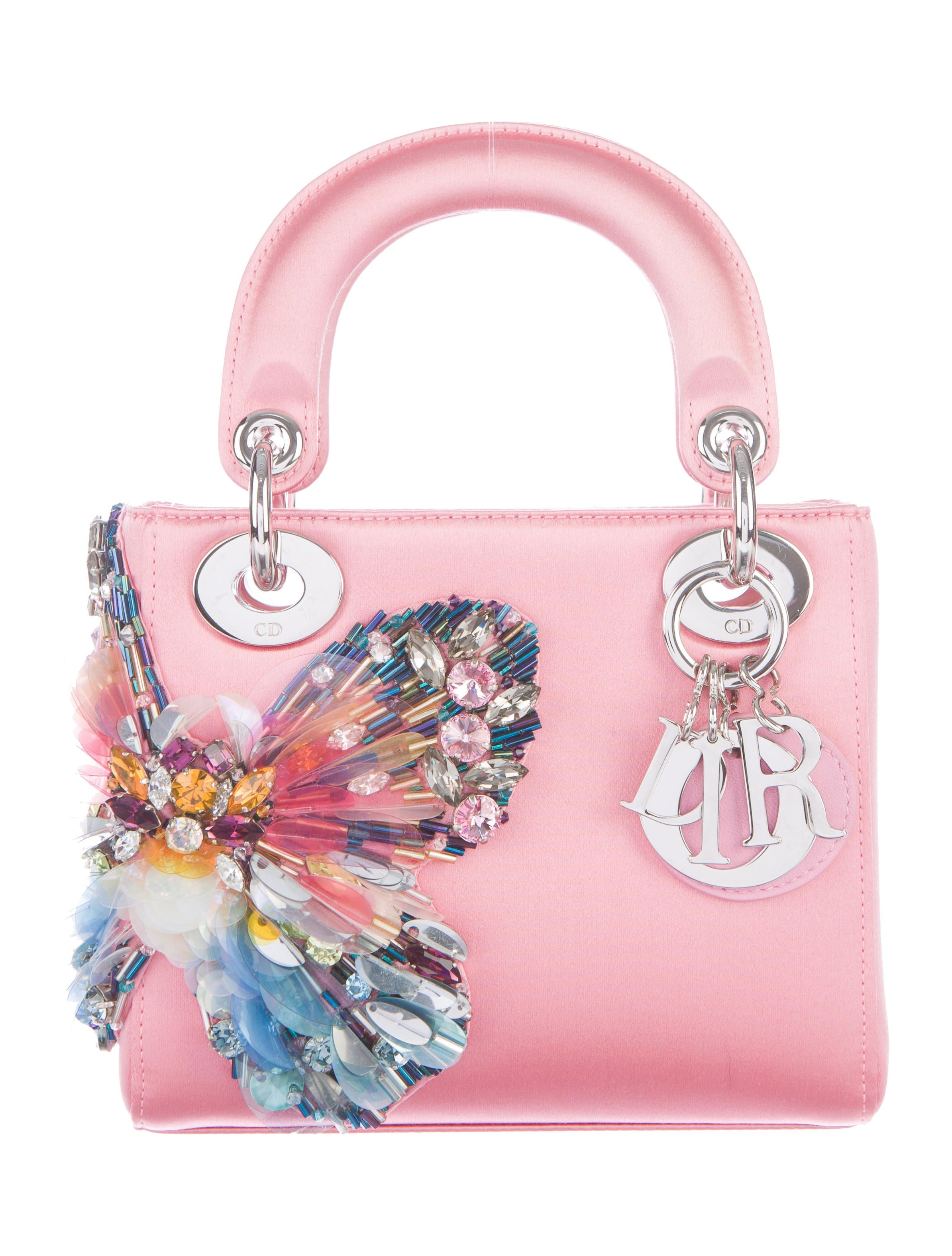 75f94283219 Butterfly-Embellished Mini Lady Dior Bag in 2019 | Dior Handbags ...