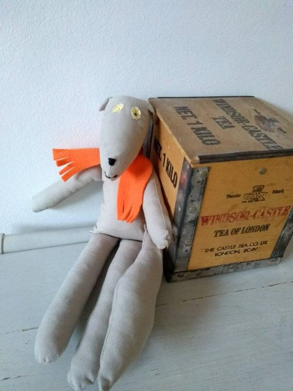 WOLFRAM wolf softie grey orange, wolf plushie, stuffed wolf toy ...
