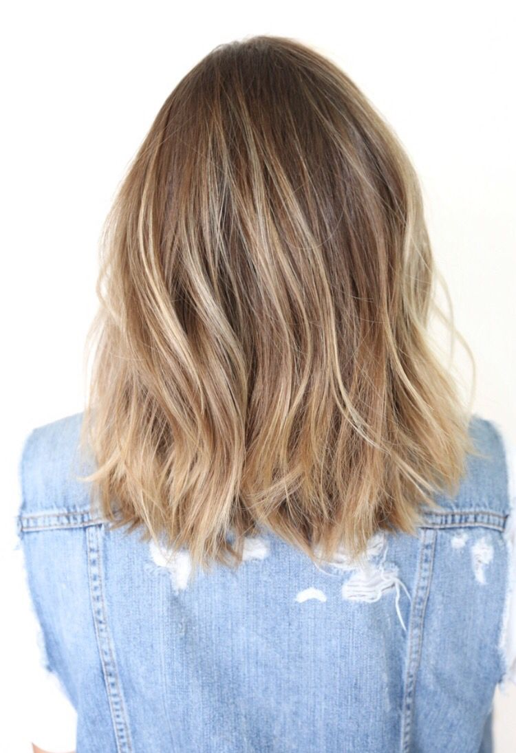 Natural color blonde highlights medium length hair pinterest
