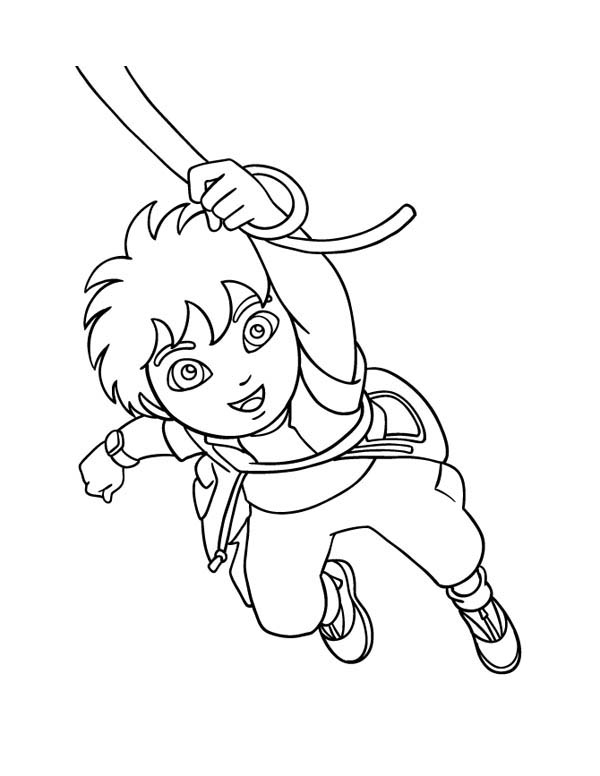 Coloring Pages Go Diego Go Diego