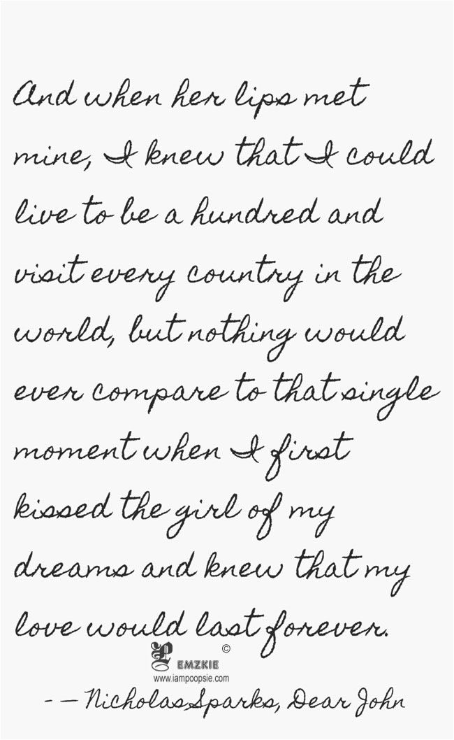 This is my favvvvv quote from dear john | Smth | Pinterest | Dear ...