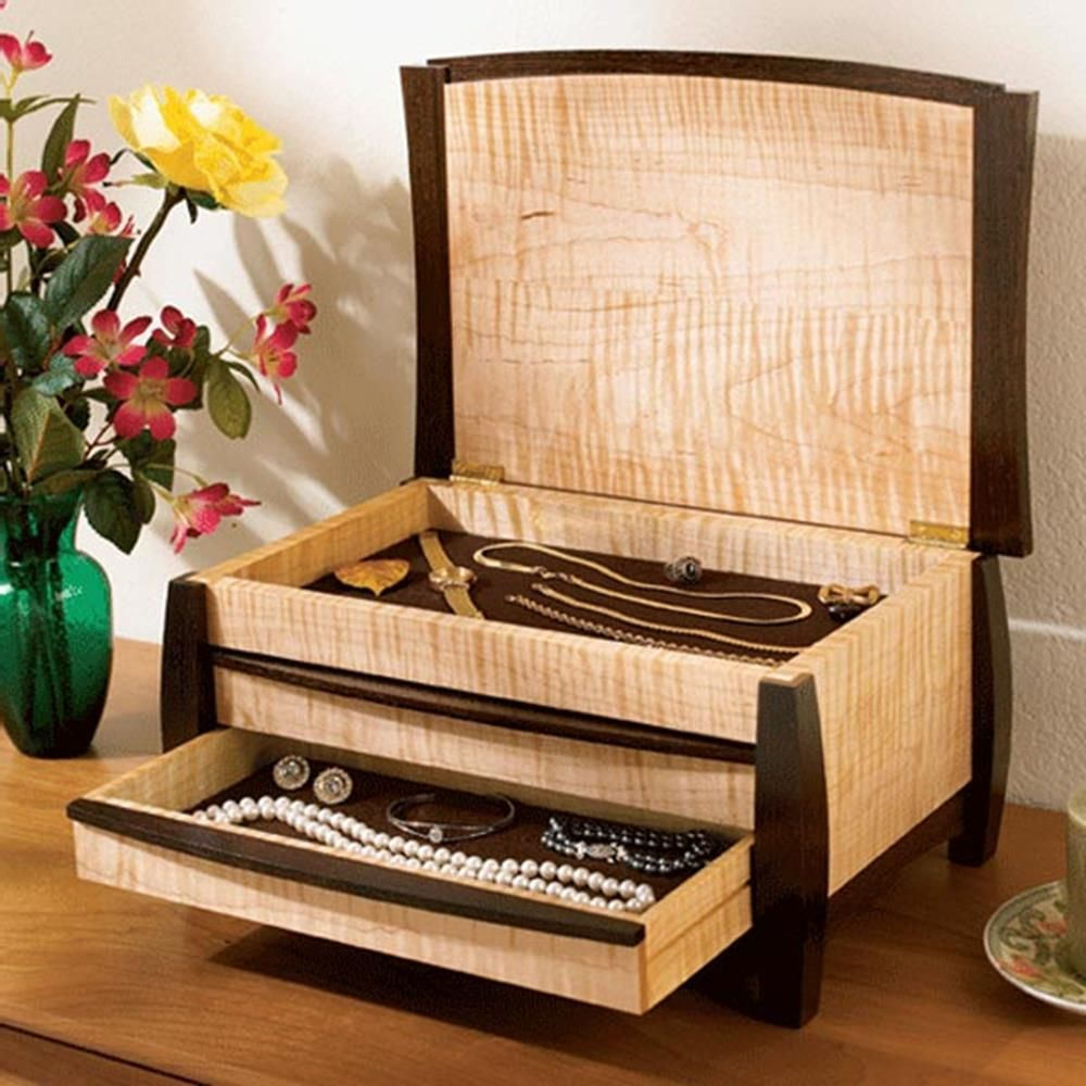 A Gem of a Jewelry Box Woodworking Plan Gifts Decorations Boxes