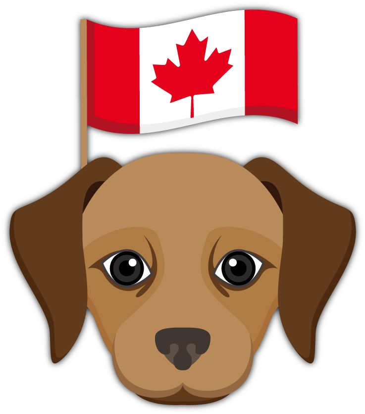Canadian Flag Emoji Labrador Retriever Emoji Stickers for