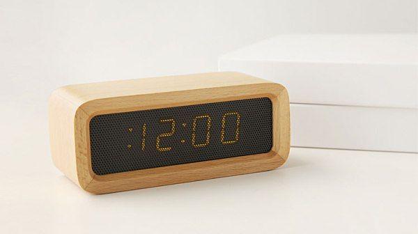 INFMETRY:: Wood LED Desk Clock