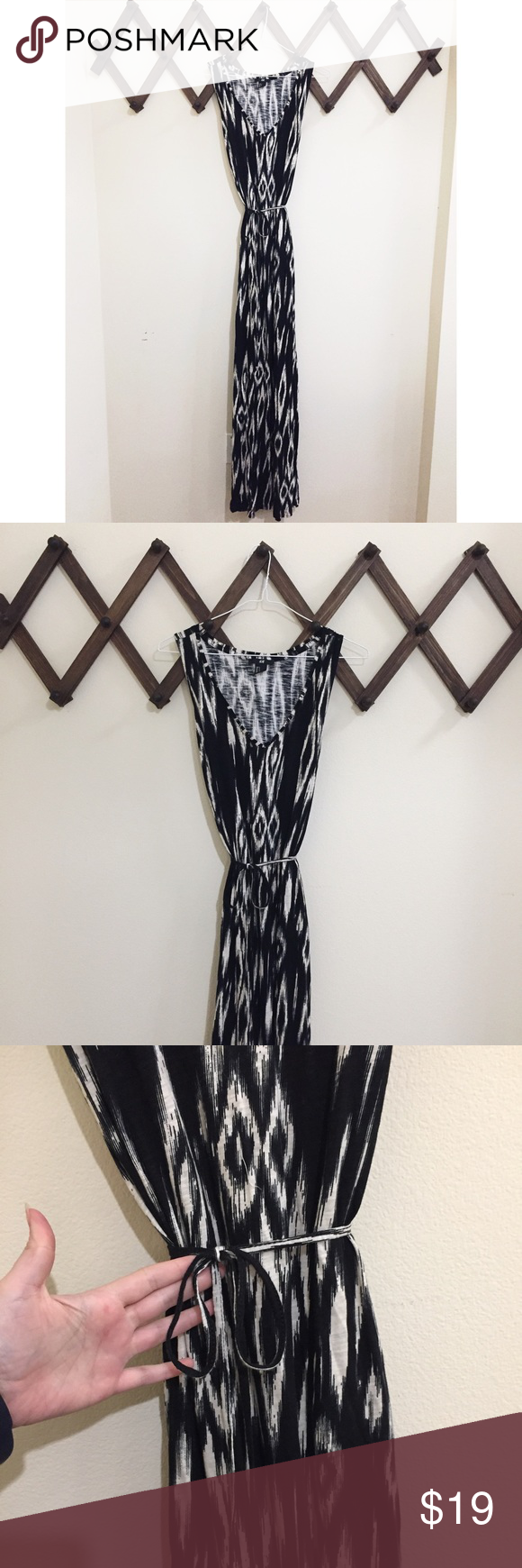 NWOT H&M Boho Tribal Cotton Long Tank Maxi Dress NWOT H&M Boho Tribal Cotton Maxi Dress W/ Tie Waist. Long Maxi Tank Top and lightweight cotton. Never Worn!! *NO TRADES* H&M Dresses Maxi