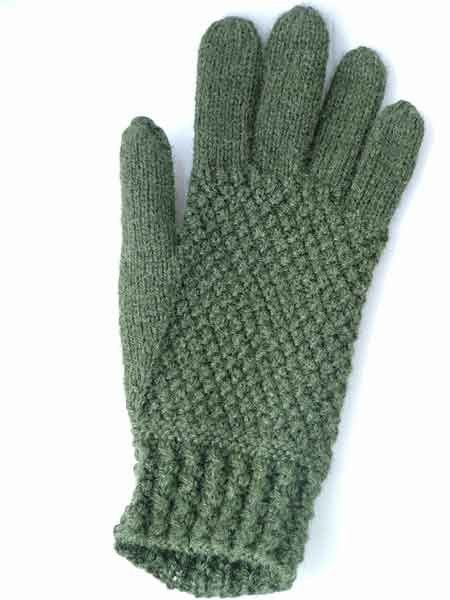 Free Knitting Pattern Adult Gloves Mittens Gansey Gloves