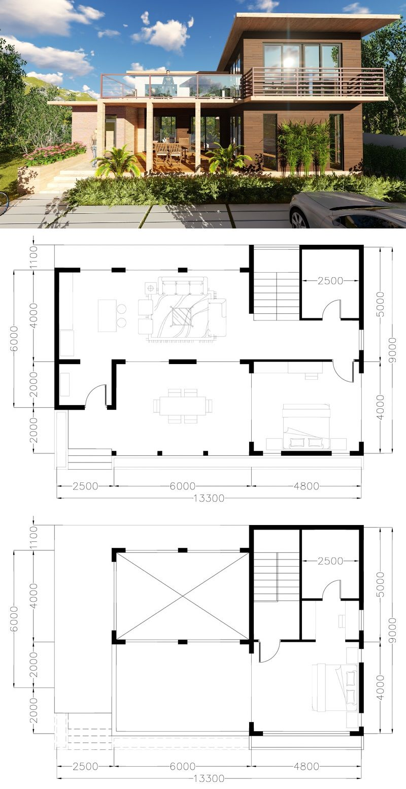 Two Storey Rest House Design House Design Concepts In 2019