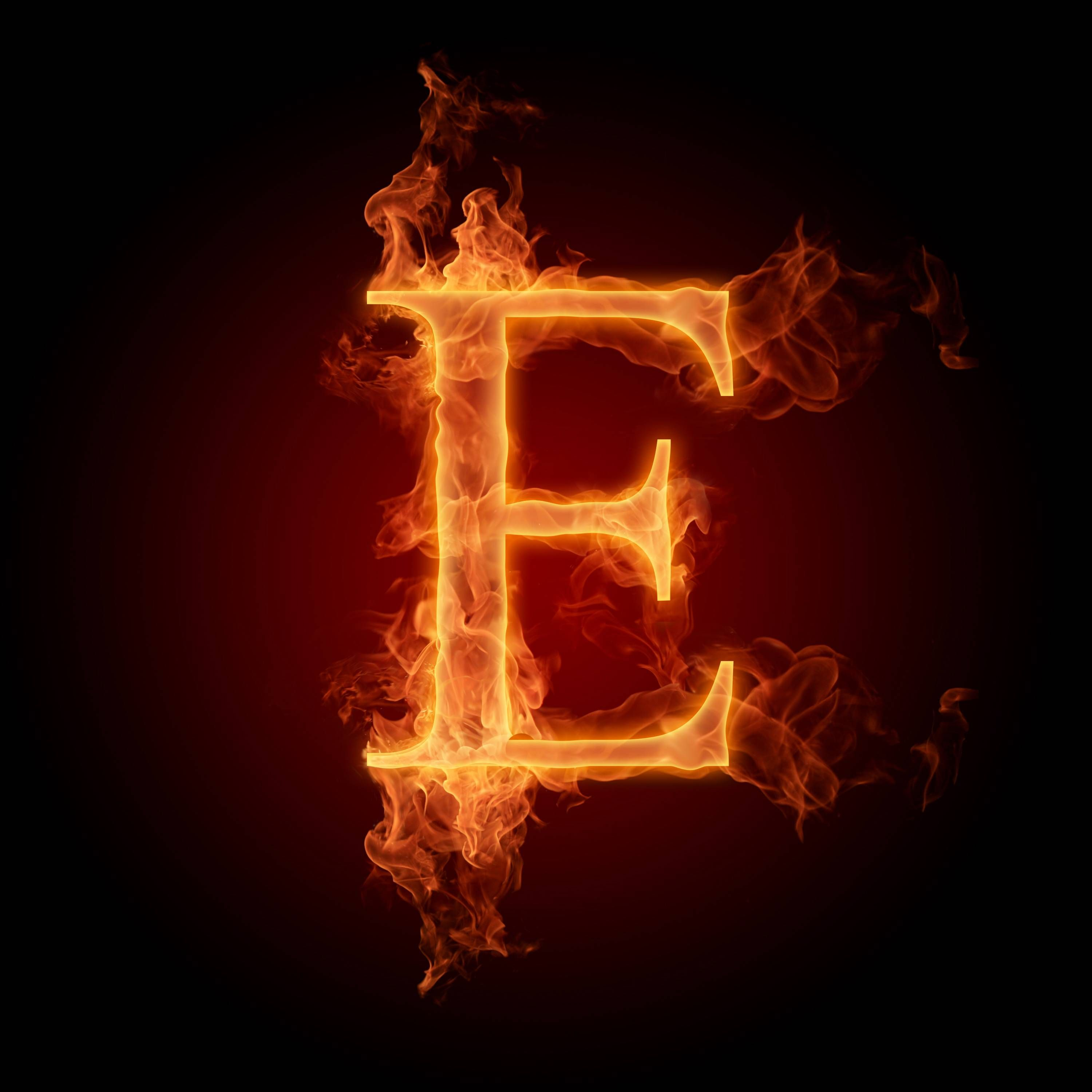 burning letters wallpapers e 270x180 burning fire letters alphabets