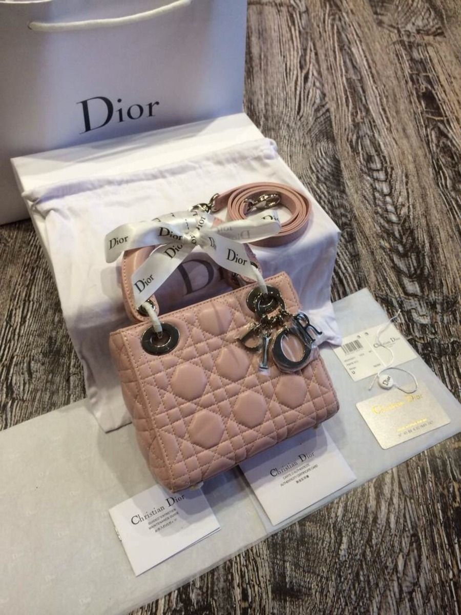 a3d6d8c950a4 Ms Fashion Junkie - Lady Dior Mini Bag Lambskin Original Leather