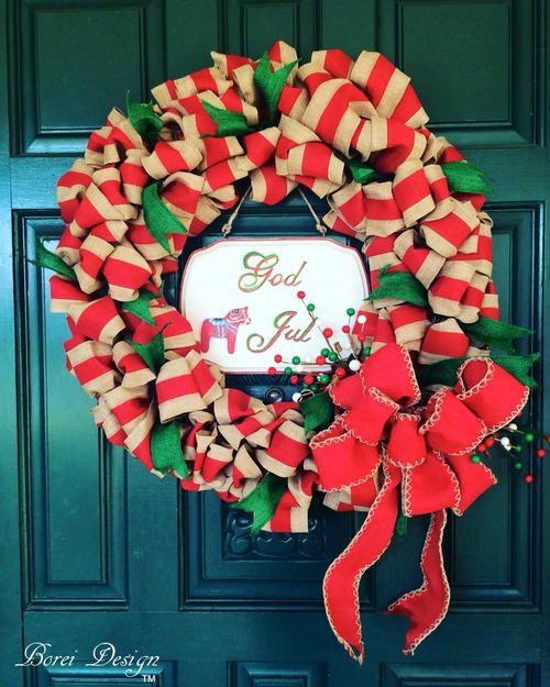 Photo of DIY Weihnachtsband Kranz Tutorial