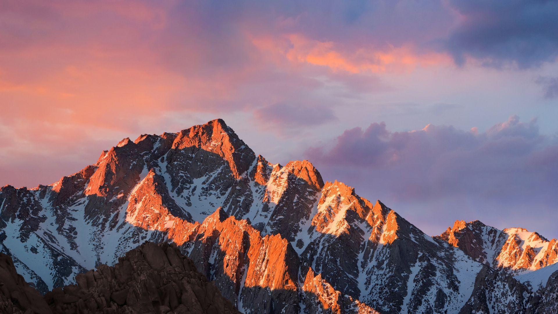 mountains, macos, 4k, 5k, sierra, sky, android wallpaper