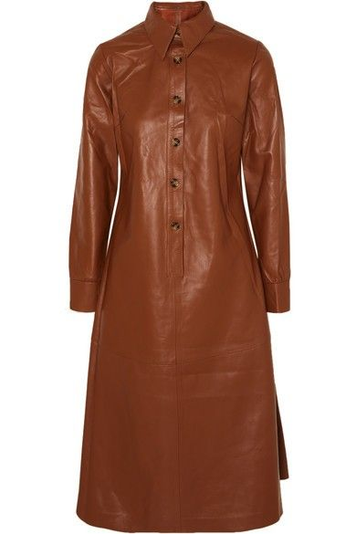 DODO BAR OR Paya leather midi dress | Bekleidung ...