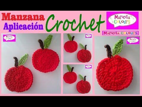 Manzana Tutorial A Crochet Aplicación Parte 1 Por Maricita Colours You