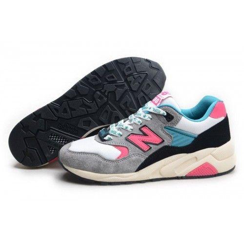 promo code 83a8c ecdd7 2014 New Balance 580 Girl Grey Pink Teal White Womens Hot ...