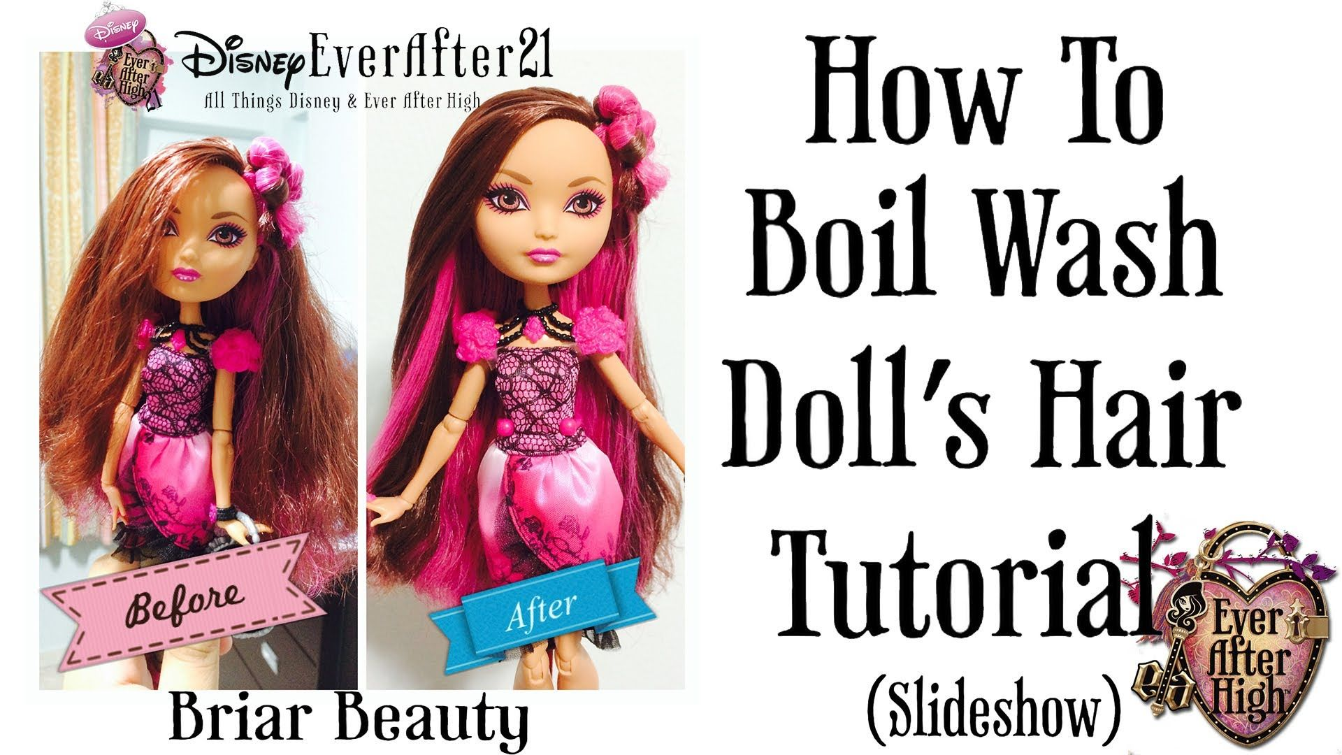 how to boil wash dolls hair & straightening tutorial (briar