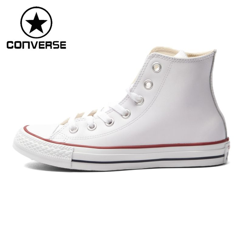 f60fd972a353d5 Original New Arrival Converse High top classic Leather skateboarding shoes  Unisex Canvas sneakser
