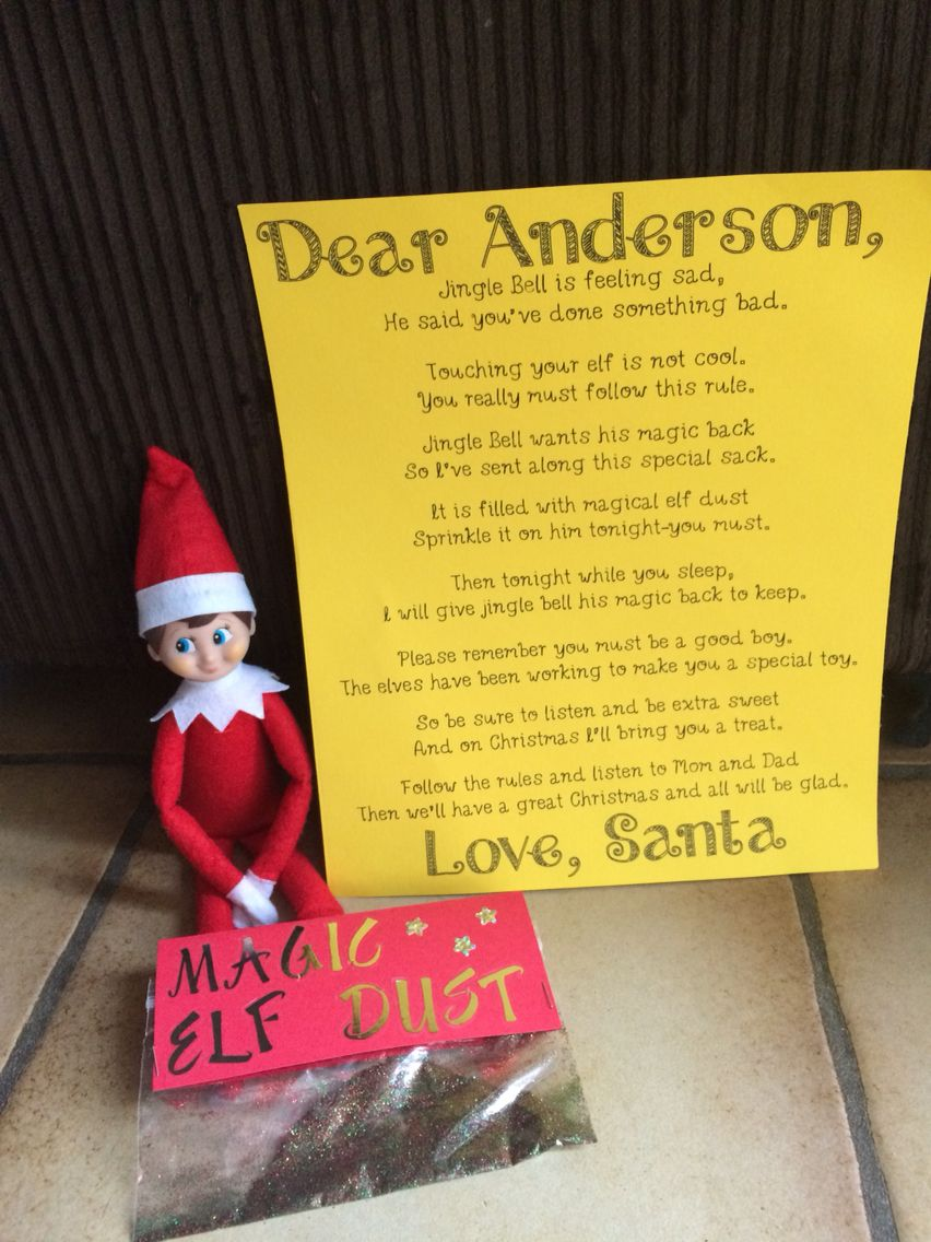 How to get the elf on a shelf magic back after being touchedhave how to get the elf on a shelf magic back after being touchedhave the child write a letter to santa saying sorry and have santa bring a note with some m4hsunfo Images
