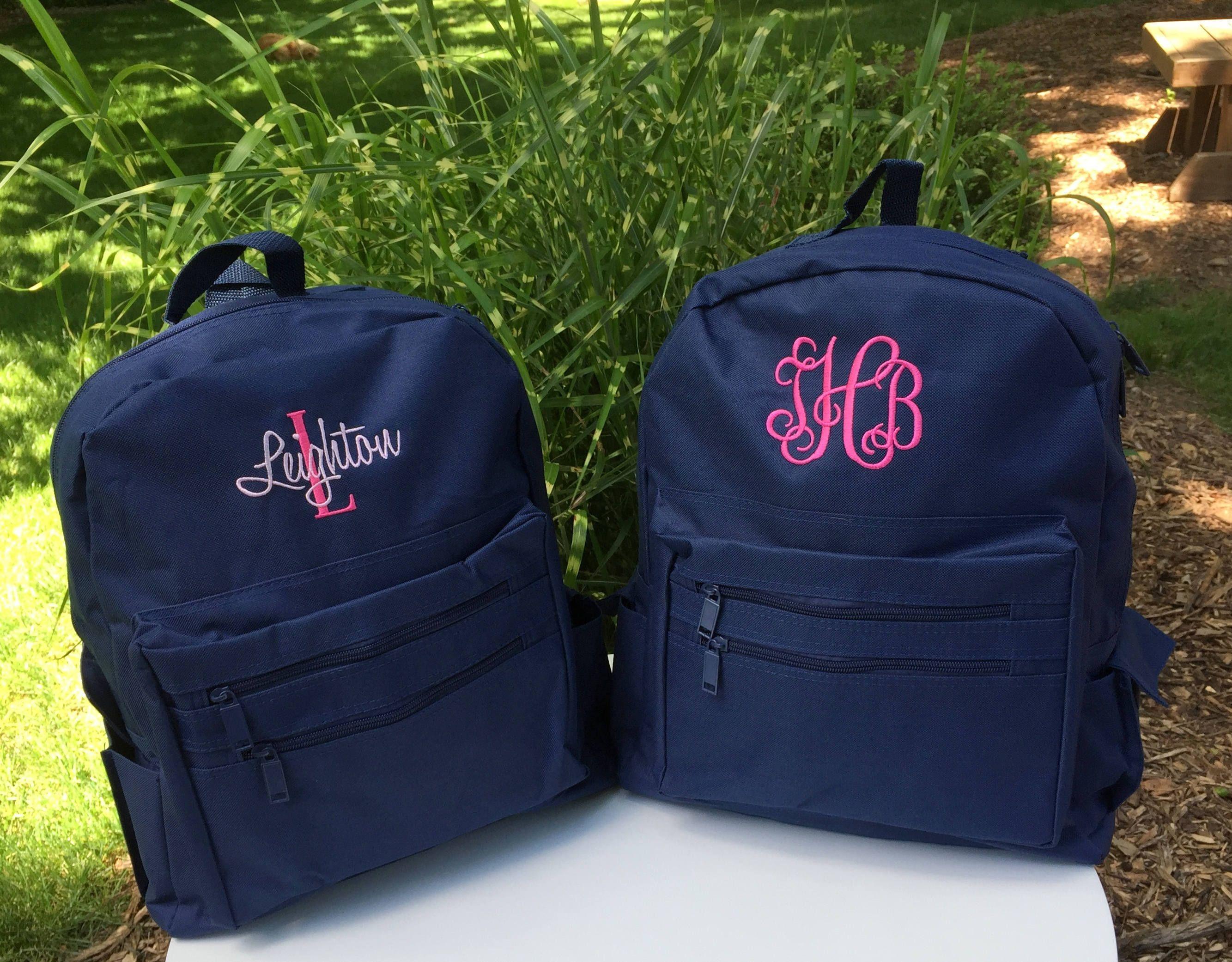 Monogrammed Backpack - Personalized School Girls Back Pack - Book Bag - Kids  Children - Kid Back Pack - Child Bag by MJMonograms on Etsy aec547cd2483b