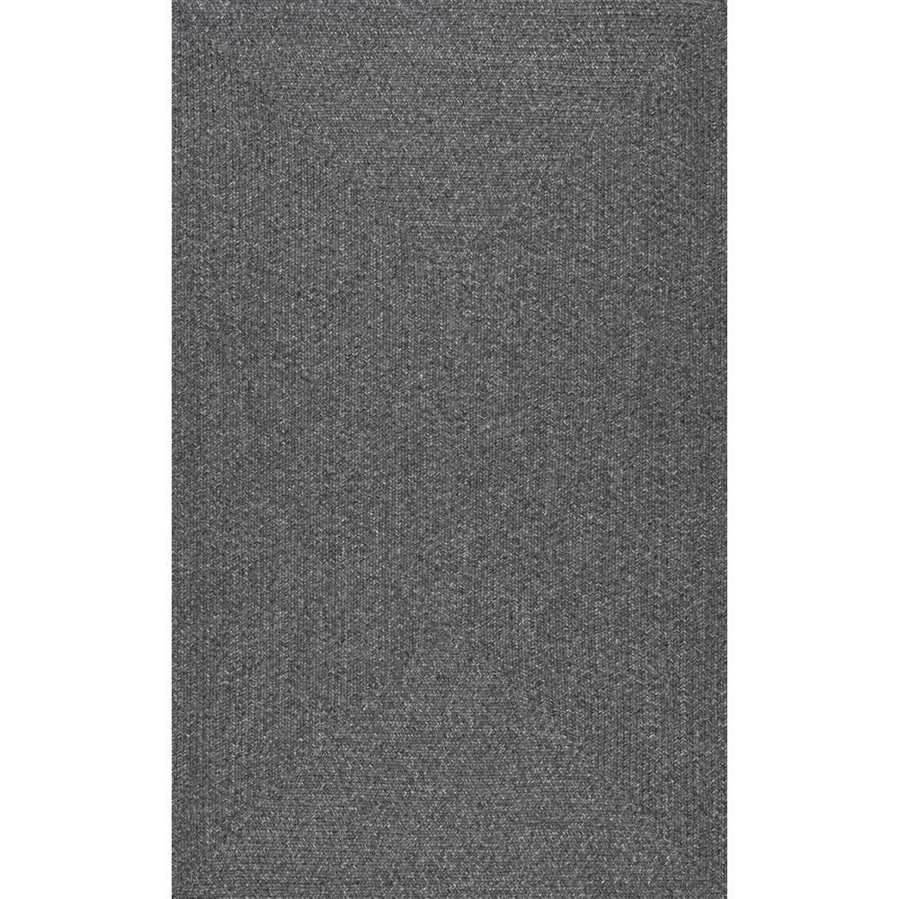 Nuloom Lefebvre Casual Braided Charcoal 9 Ft X 12 Ft Outdoor Area Rug Grey In 2020 Area Rugs Area Rug Sizes Machine Washable Rugs