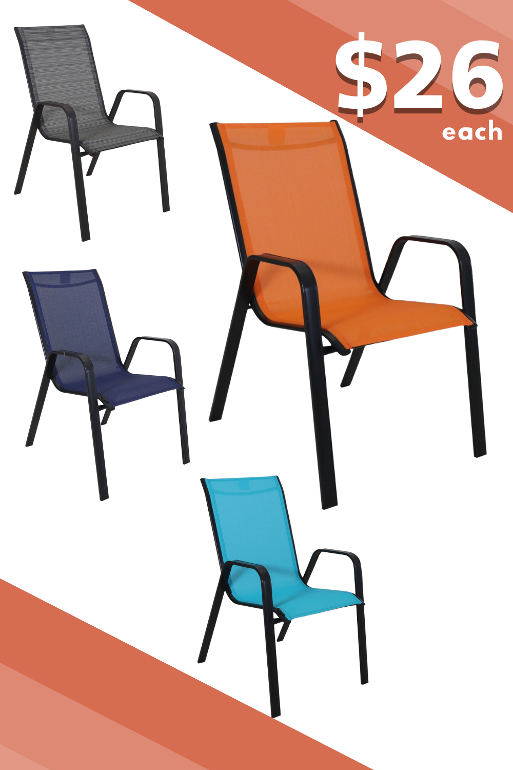 budget friendly stackable patio chairs