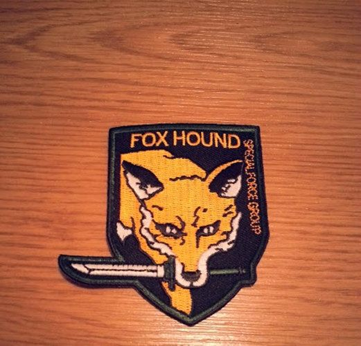 Foxhound Iron On Patch Metal Gear Solid Cosplay By Zanzibarland The Fox The Hound Metal Gear Solid Metal Gear