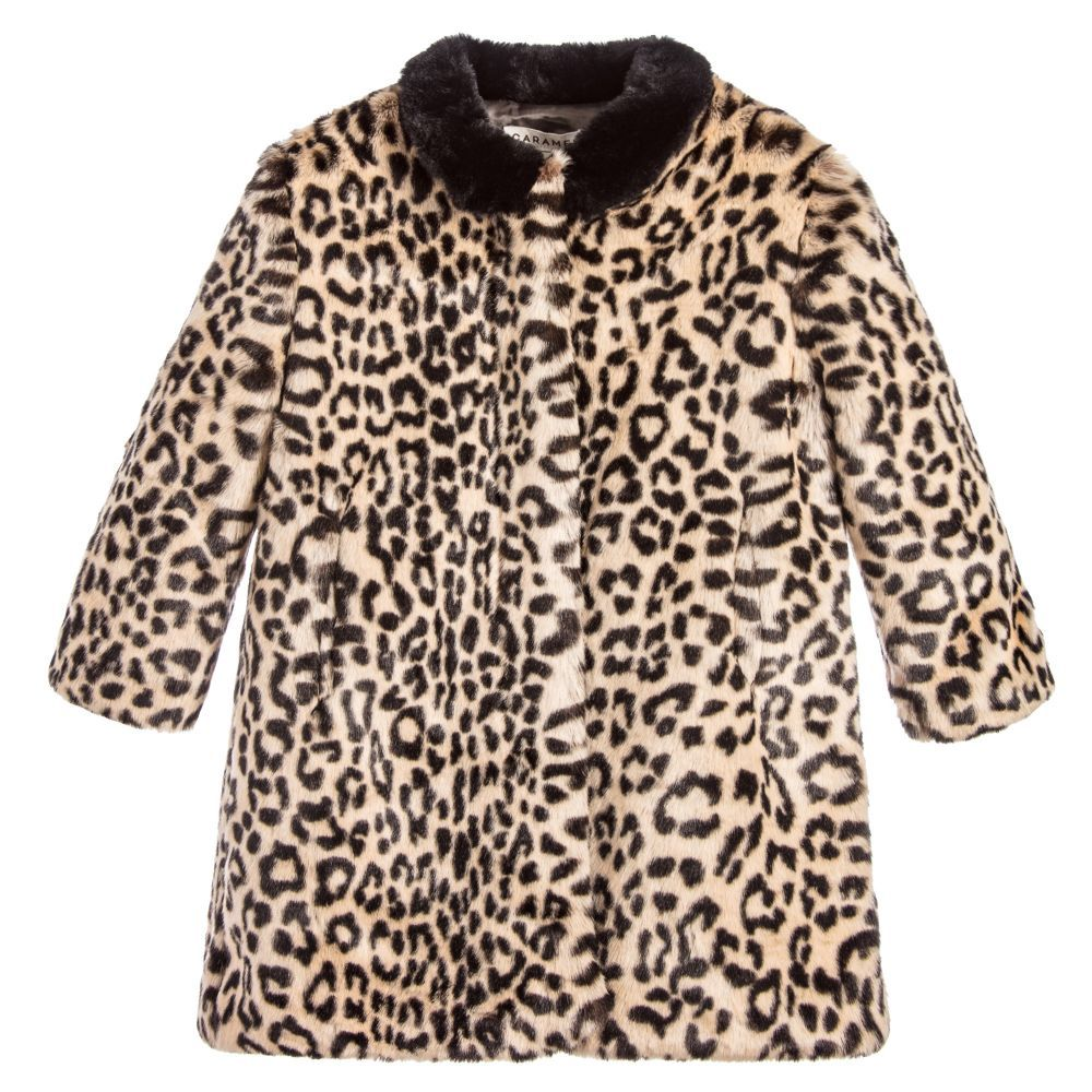 Caramel Girls Leopard Print Coat At Childrensalon Com Coat