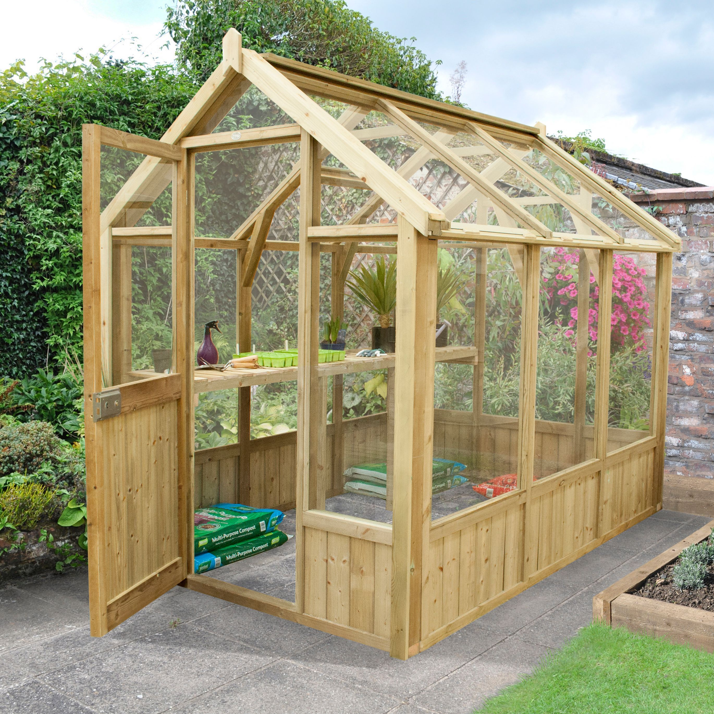 Image Result For Small Lean To Greenhouse Against Wooden