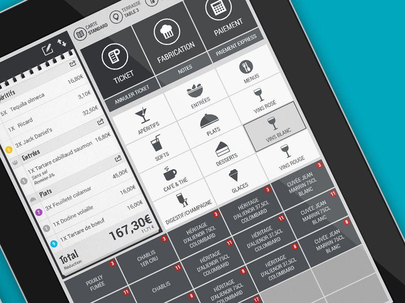 Ipad Cash register iOs 7 Order App, Ipad apps, Pos design