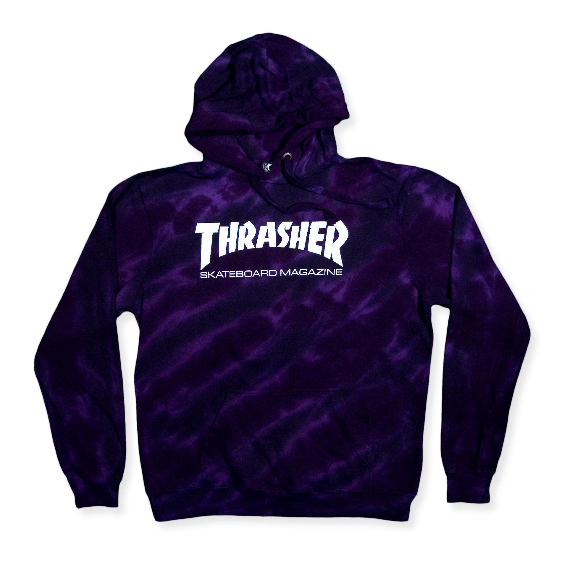 Thrasher Skate Mag Tie Dye Hoodie Purple Black  423d15fa3