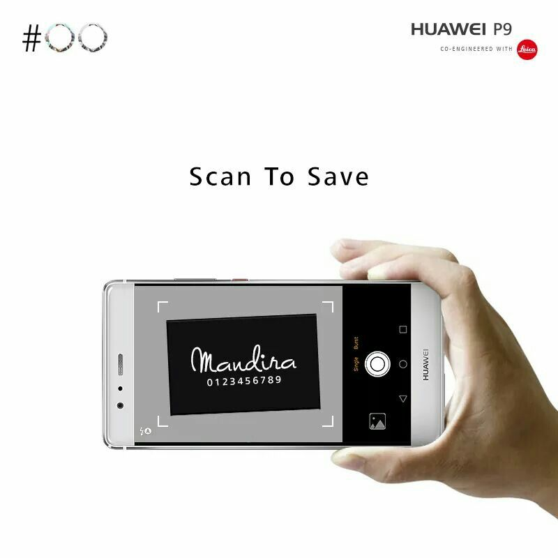 Want To Save Coordinates From A Business Card On Your Huaweip9 Scan The Card Using The Business Cards Feature In Contacts To With Images Digital Alarm Clock Huawei Save