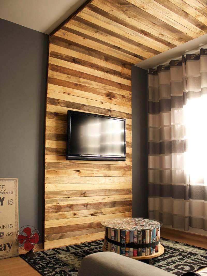 Como Fazer Painel Para TV | Pinterest | Pinterest | Wohnzimmer,  Europaletten Möbel Und Palette