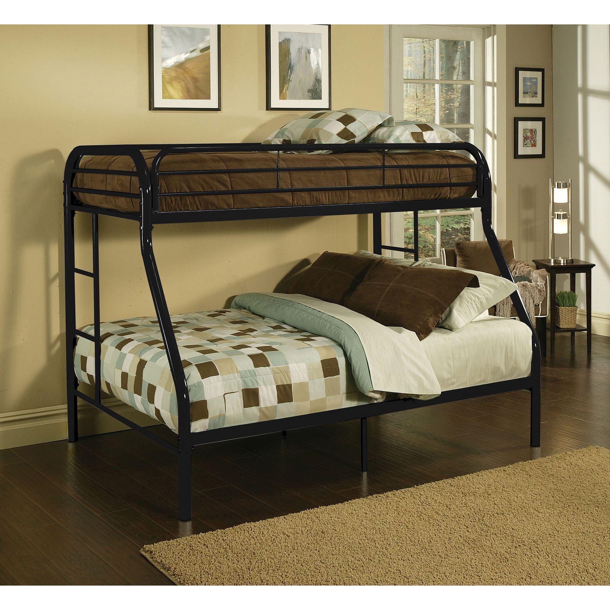 Tritan Black Metal Twin Xl Queen Bunk Bed Black 84l X 62 W X 65 H