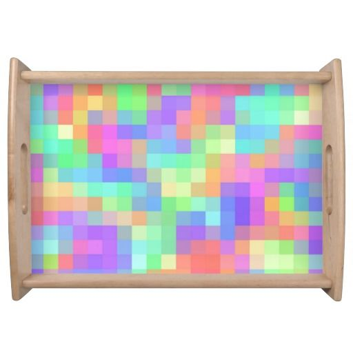 Girly Pastel Abstract Pattern Serving Tray | Zazzle.com