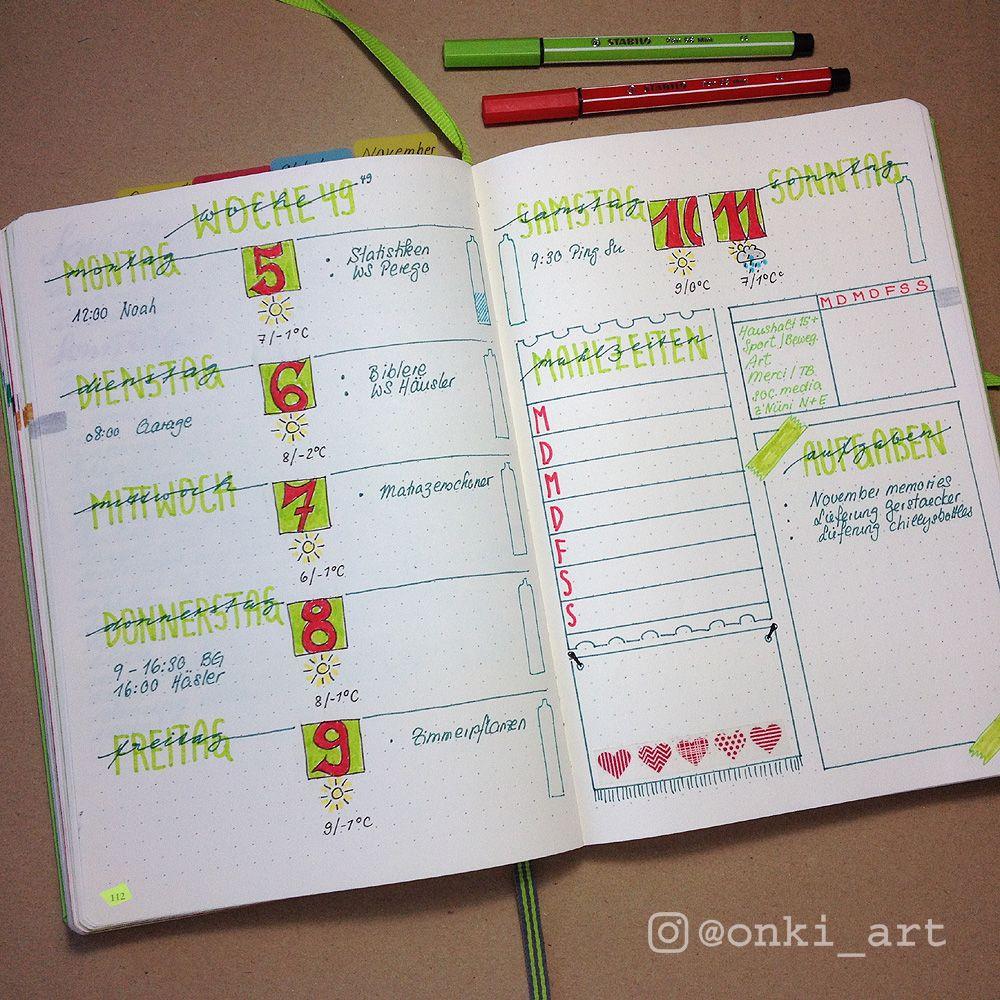 bullet journal wochen bersicht 49 bulled journal pinterest kalender tagebuch und kreativ. Black Bedroom Furniture Sets. Home Design Ideas