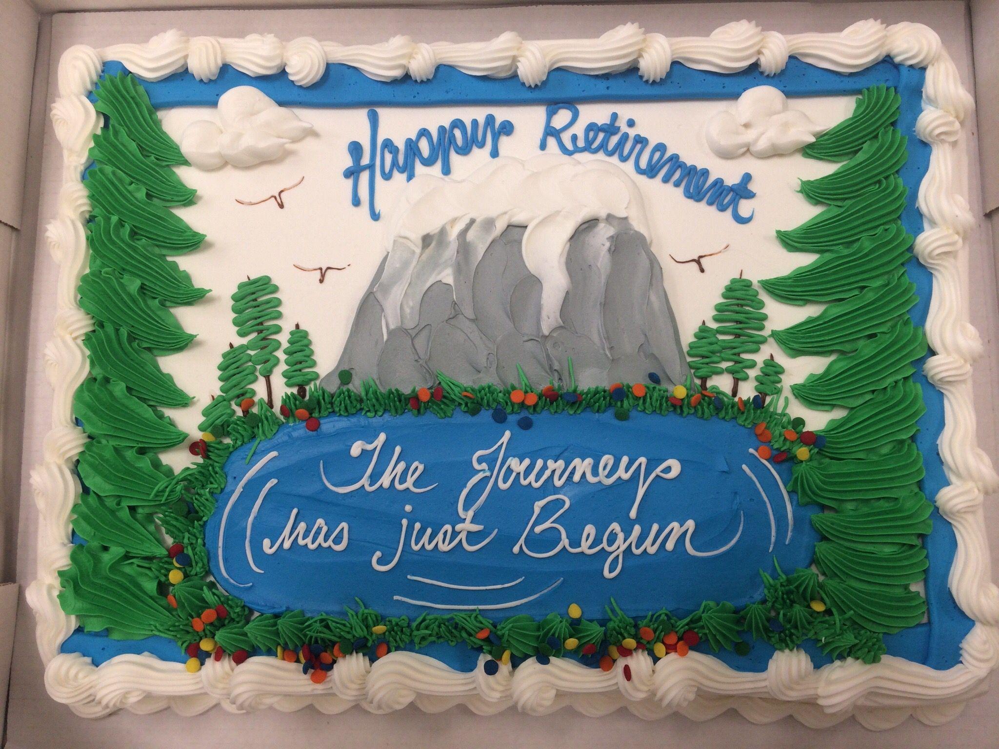 Retirement cake My buttercream creations Pinterest ...