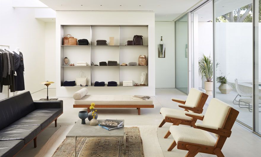 the row's first store in los angeles enhabits a mid-century