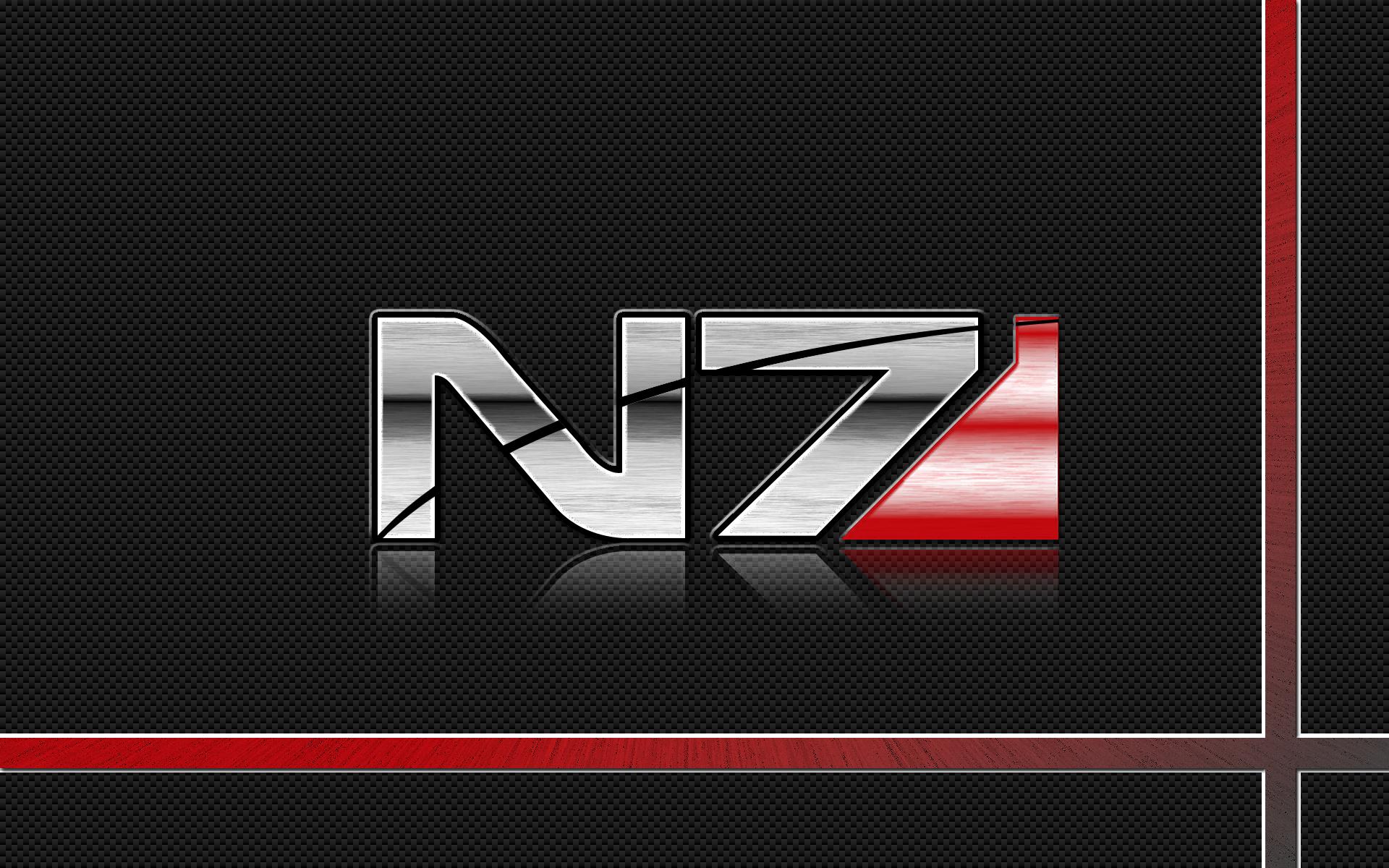 Mass Effect N7 Logo Wallpaper By Pyrogx2000 On Deviantart Mass Effect Mass Effect Art Mass