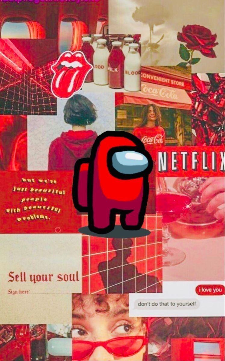 Red Among Us Wallpaper Iphone Cute Iphone Wallpaper Hipster Aesthetic Desktop Wallpaper