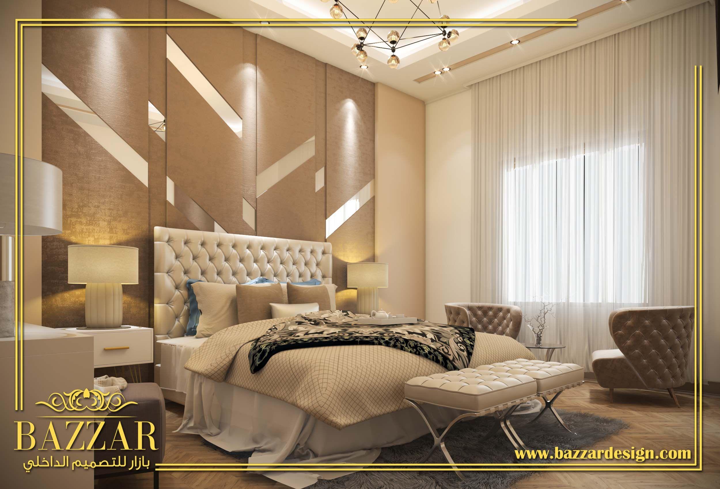 غرفة نوم ماستر نيوكلاسيك بيج وارضيات باركية Masterbedroom Neo Calasic With Barquit Flooring Bedroom Inspirations Home Decor Home