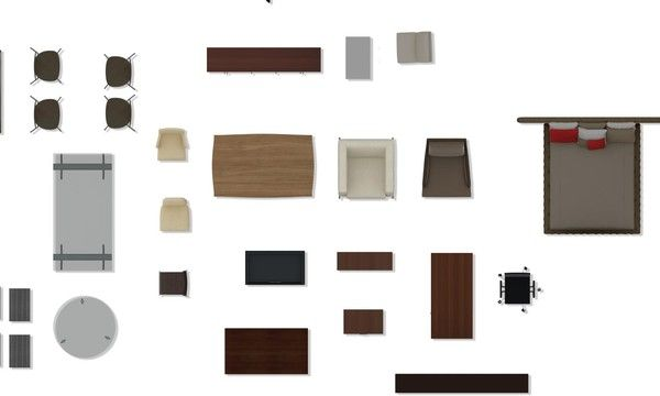 texture psd 2d furniture floorplan photoshop pinterest