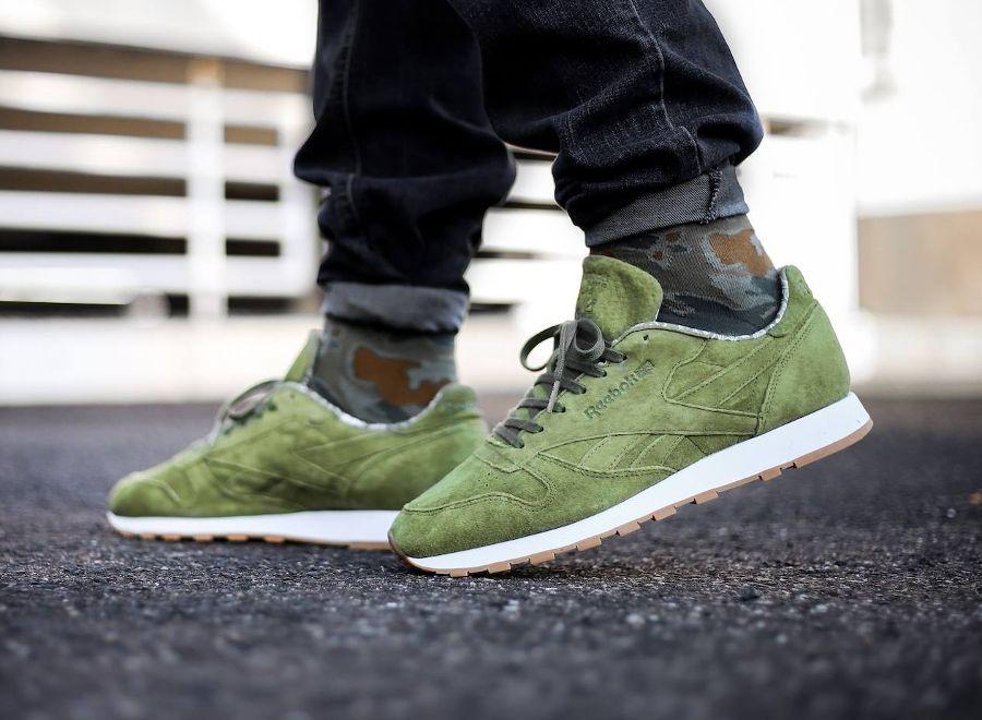 04ecb2f32ca chaussure-reebok-classic-leather-tdc-daim-vert-olive-2