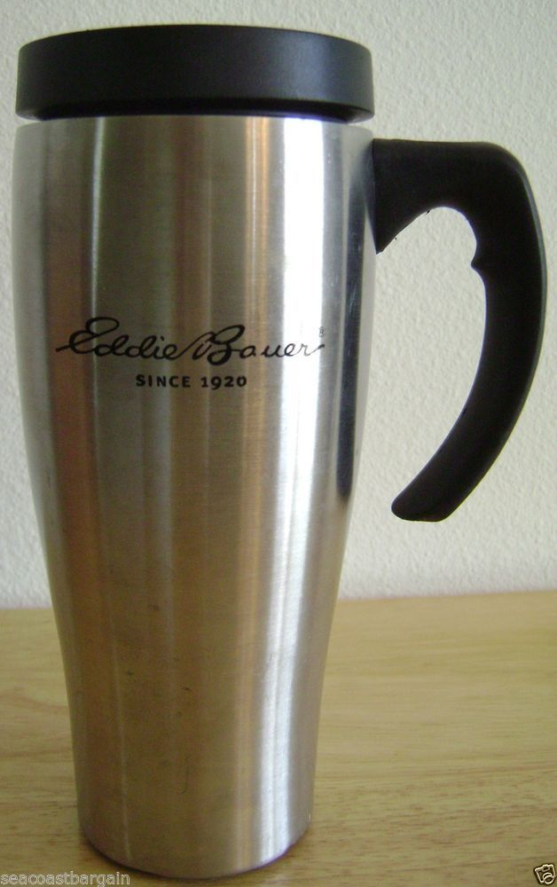 Eddie bauer stainless steel travel car coffee mug 16 oz lid desk eddie bauer stainless steel travel car coffee mug 16 oz lid desk office camping eddiebauer fandeluxe Image collections