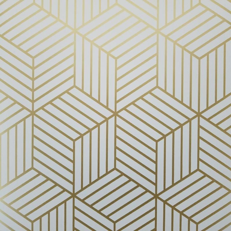 Modern Home Accents Mid Century Geometric Gold Hexagon Peel And Stick Mid Century Mid Century Modern Wallpaper Modern Wallpaper Modern Wallpaper Accent Wall
