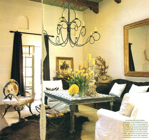 A Couple Of Years Ago The Fabulous Magazine, Western Interiors, Featured  Country U0026 Western Singer, Ronnie Dunnu0027s, Santa Fe Home .
