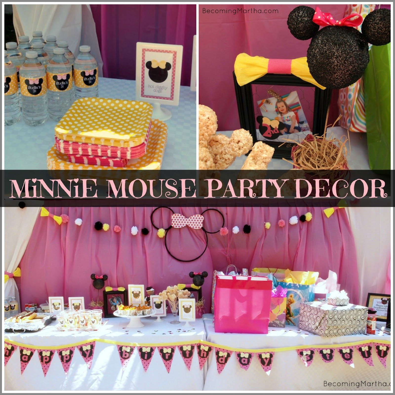 Minnie Mouse Party Decor Birthday Theme Decorations Mickey